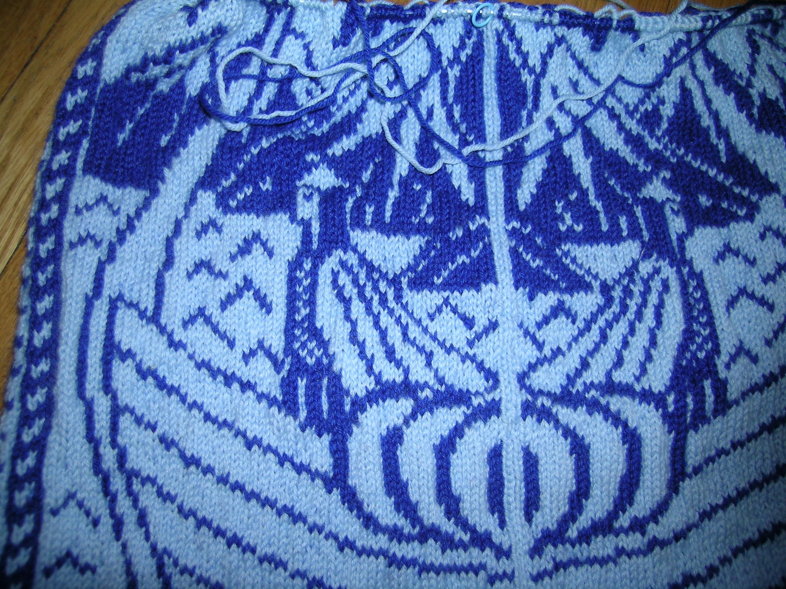 Free Viking Boat Sweater Pattern Knitting Before